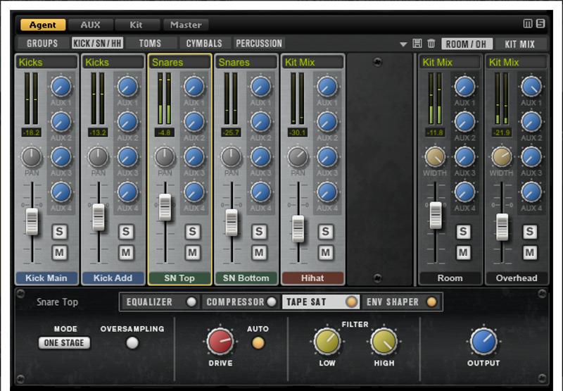 steinberg-grooveagent4-mixer