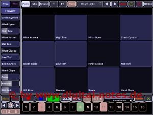 Stroke Machine Pad View Subdued Color Scheme