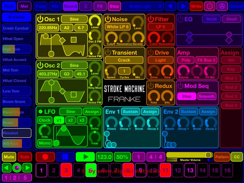 Stroke Machine Sound View Normal Color Scheme