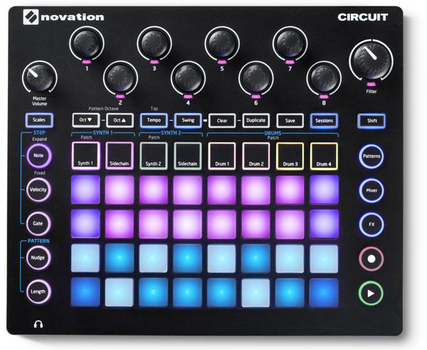Novation-Circuit_overhead_Synth-Mode-screenprint-LoRes